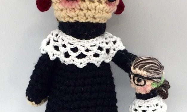 Crochet a Ruth Bader Ginsburg Amigurumi … Pattern Comes With Bonus Finger Puppet!