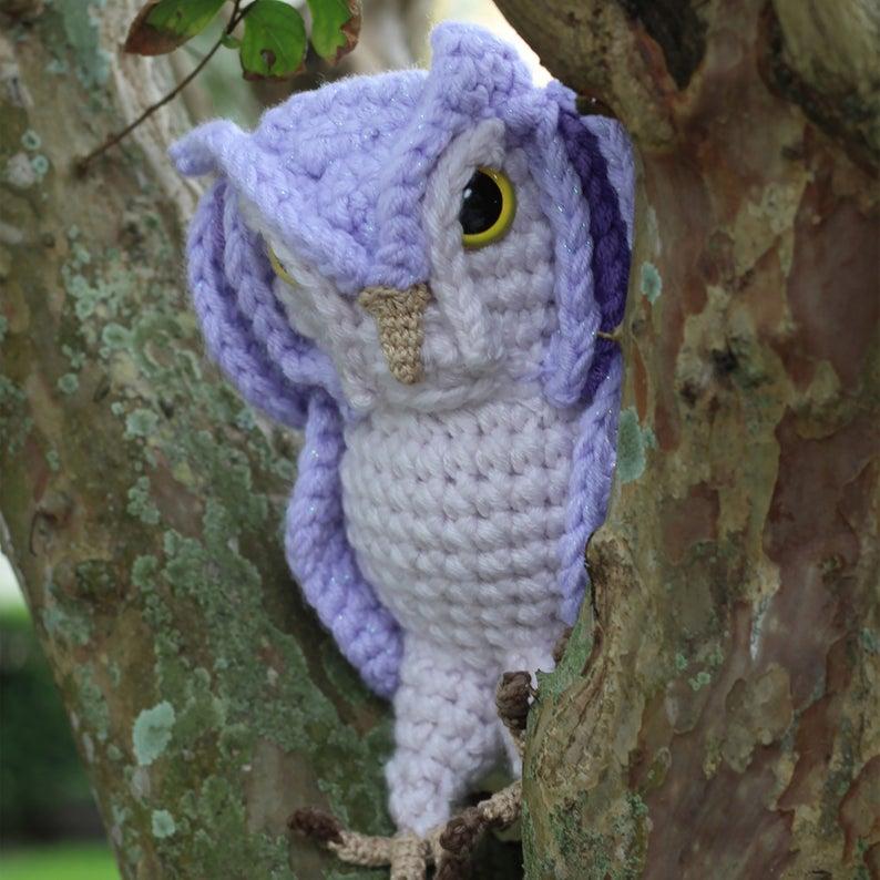 Crochet a Screech Owl Amigurumi, Pattern By The Cheerful Chameleon