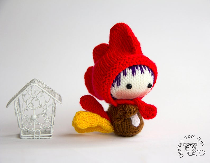 Get the knit rooster pattern via Etsy
