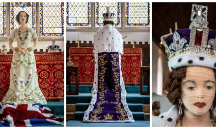 They Knit a Life-Sized Model of the Queen & Recreated Life In The Year Of Her 1953 Coronation