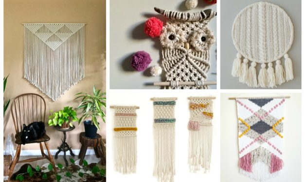Designer Spotlight: You'll Want To Make One Of These Fun & Funky Knit & Crochet Wall Hangings