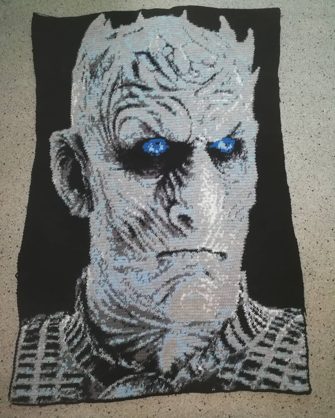 Game Of Thrones Fans, This One's For You! It Took 50,960 Stitches TO Crochet This Night King  Afghan ...