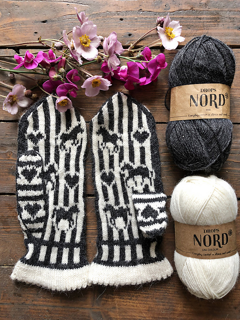 Knit a Pair of Zebra Life Mittens, Designed By Lotta Lundin
