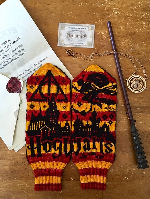 Knit a Pair of Harry Potter Mittens, Wizardry Designed By Lotta Lundin