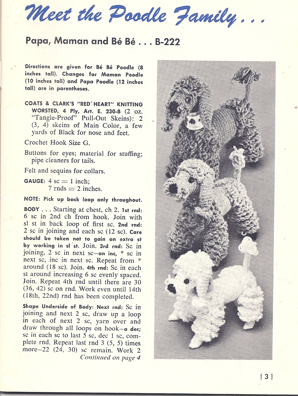 Crochet a Yankee-Poodle-Dandy ... Free Vintage Pattern Alert!