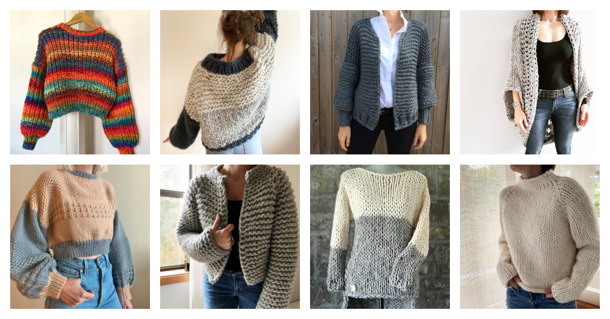 Designer Spotlight: Chunky-Knit Sweater Patterns, Good For Beginner Knitters Too … Finally Sweater Weather!