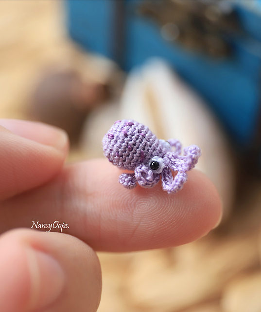 Crochet These Cute Micro Miniatures – I Spy an Octopus, a Dragon and Some Bunnies Too!