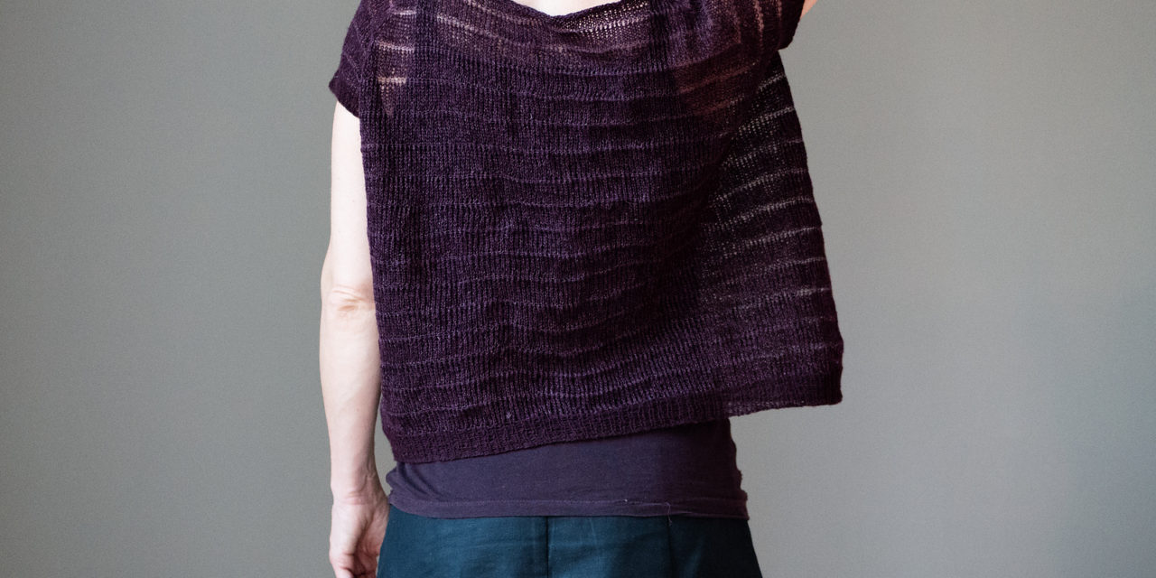 Knit a Purple Coke, a Gorgeous Oversized, Cropped Raglan Shirt