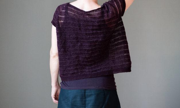 Knit a Purple Coke, a Gorgeous Oversized, Cropped Raglan Shirt