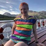 It's Perfect Weather To Knit a Rainbow Slices Summer Sweater