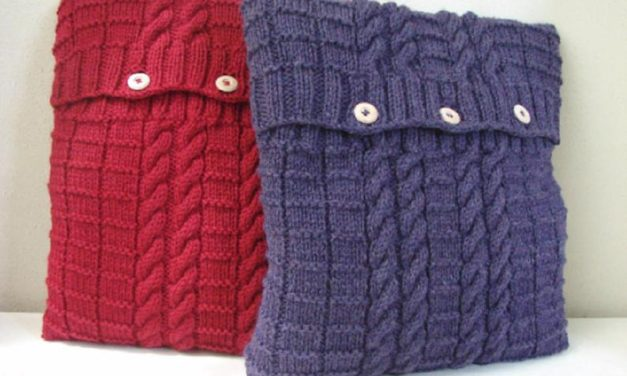 Perfect Project For Cooler Days … Cute Cable-Knit Pillows!