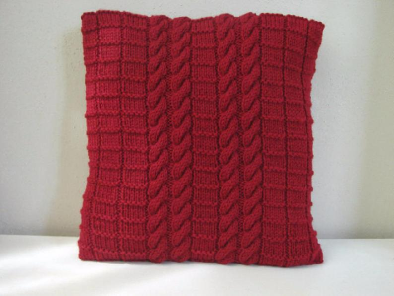 Perfect Project For Cooler Days ... Cute Cable-Knit Pillows!
