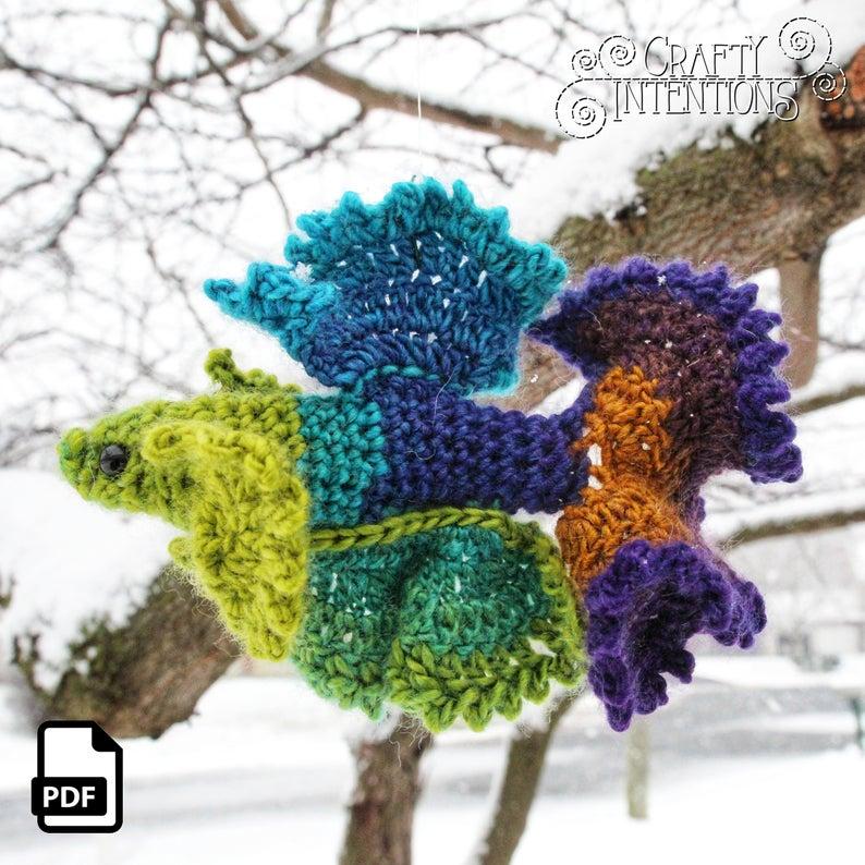 Beautiful Betta Fish Amigurumi, Crochet Your Own!