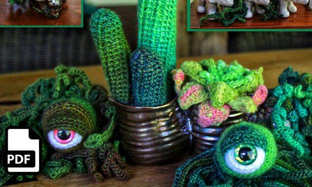 Popular! Crochet a Succulent Cactus Eyeball Plant Amigurumi Designed By Crafty Intentions