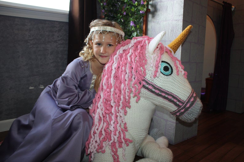Crochet a Magical Life-Size Unicorn ... It's Absolutely Marvelous!