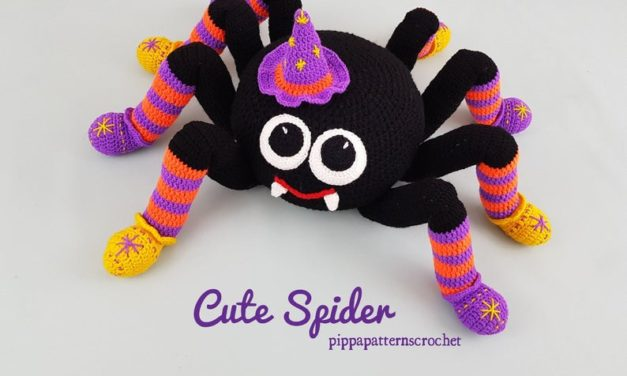 You Or Someone You Love Needs This Crochet Spider Pillow … It's Cuddly & Fun!