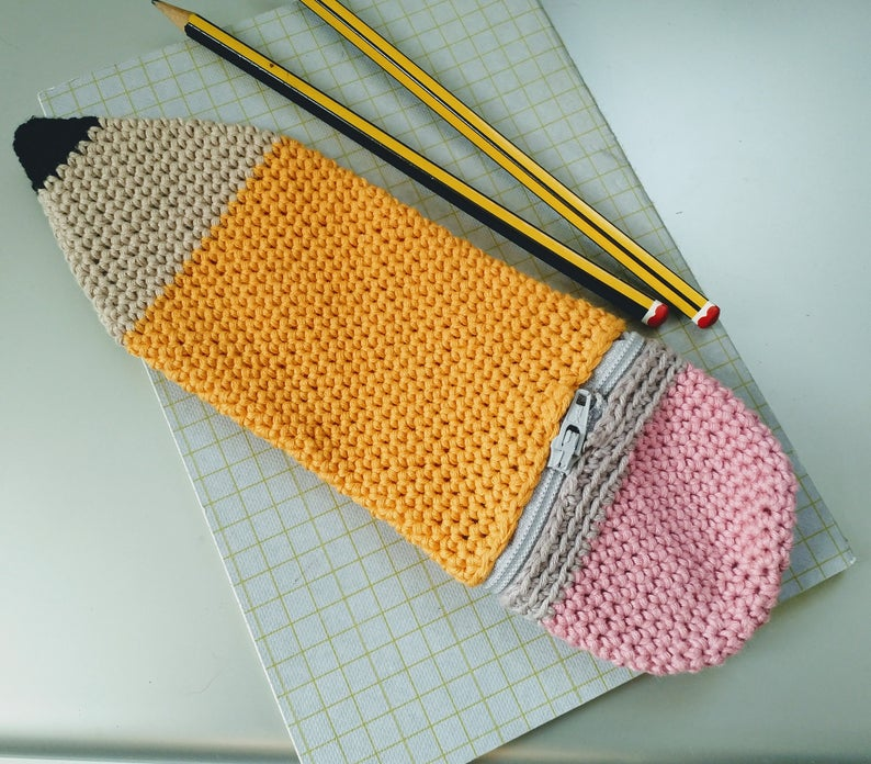 Crochet a Pencil Case That?s a Pencil Case ? It?s Meta-Marvelous, a Perfect Project For Back-To-School