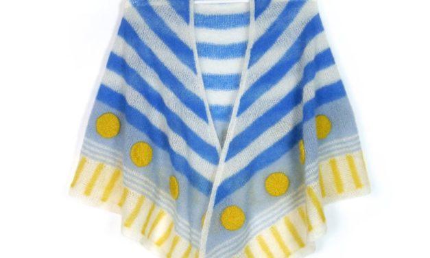 Love Bold Dots & Stripes? Knit a Sailor's Bride Shawl!
