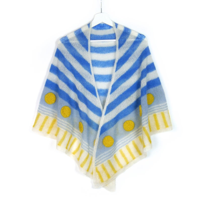 Love Bold Dots & Stripes? Knit a Sailor's Bride Shawl!