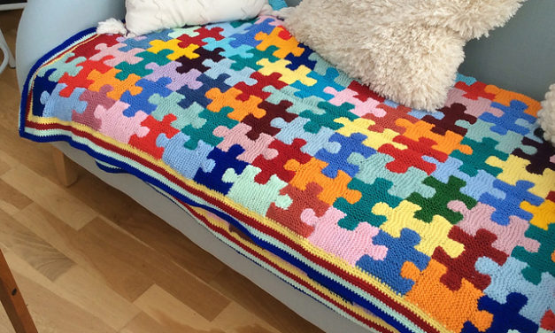 Knit a Fabulous Puzzle Pieces Afghan … Gorgeous Stashbuster Alert!