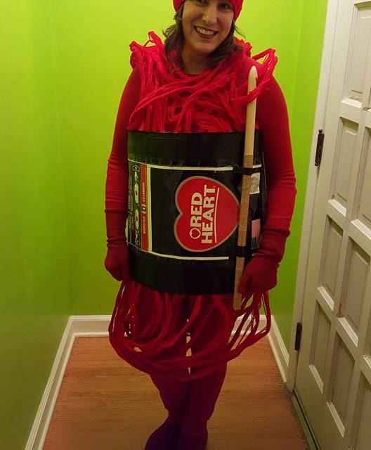 Idea Alert! Natalie Joy Kenda's Genius DIY 'Skein of Yarn' Costume