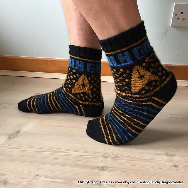To Boldly Go ... Knit a Pair of Star Trek Socks, FREE Pattern!
