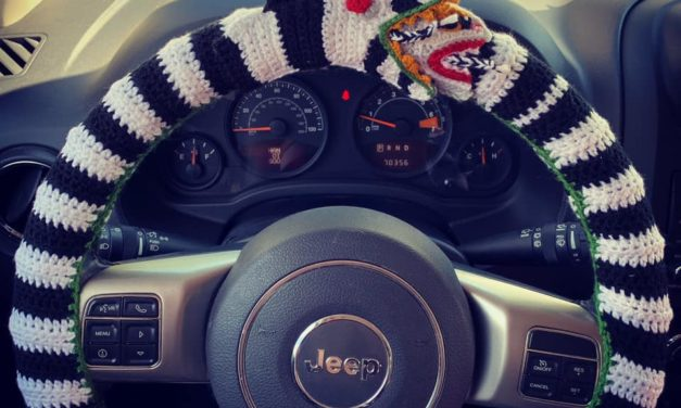 Angie's Sandworm Steering Wheel Cover … This Is Creative Crochet At Its Best!