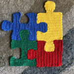 Crochet Puzzle Pieces … Super Fun Stashbuster Alert!