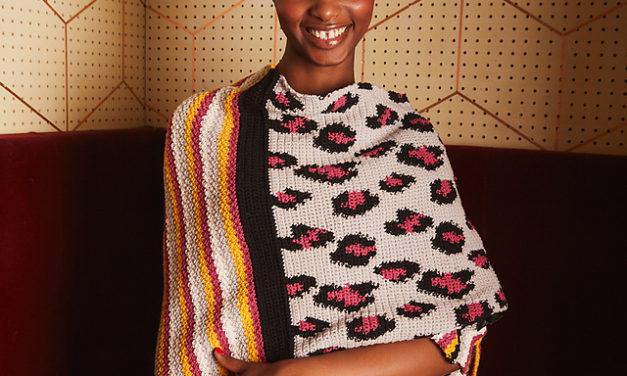 Crochet a Pardus Fair Isle Shawl … It's Leopard-Fabulous and the Pattern is FREE!