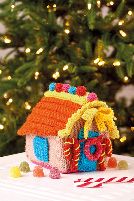 Get a Ahead of the Holidays, Knit a Colorful Gingerbread Cottage, FREE Pattern!