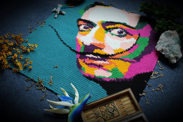 Crochet an Amazing Abstract Salvador Dali Throw, Designed by Mark Roseboom