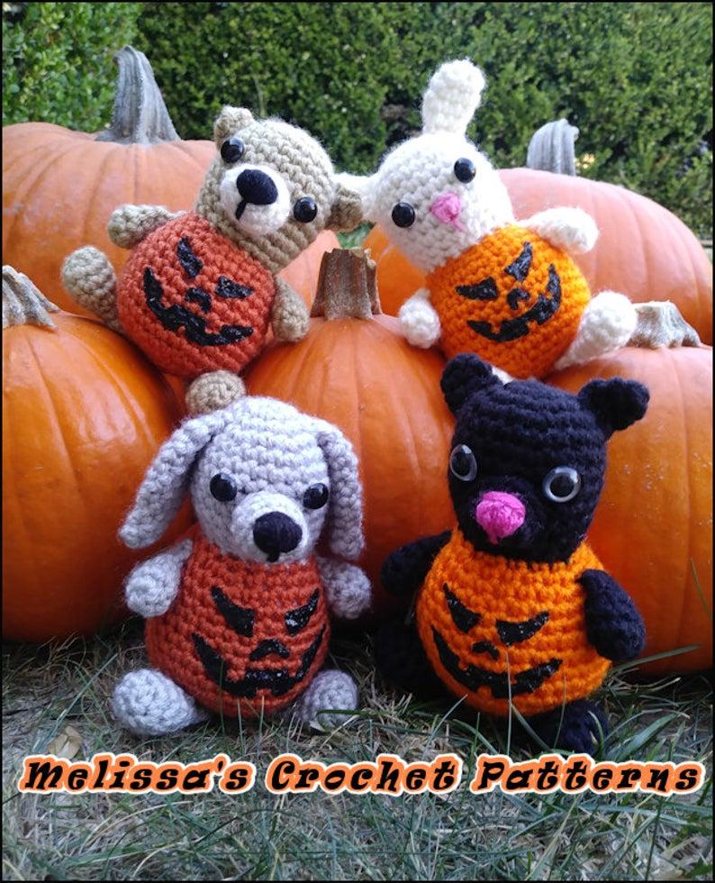 Bears, Dogs & Bunnies Re-Imagined as Perky Plump Pumpkins ... They're Pumpkin Critters!
