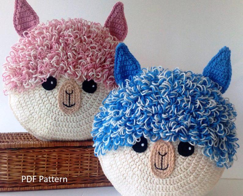Crochet Alpaca and Llama Pillows … So Fun!