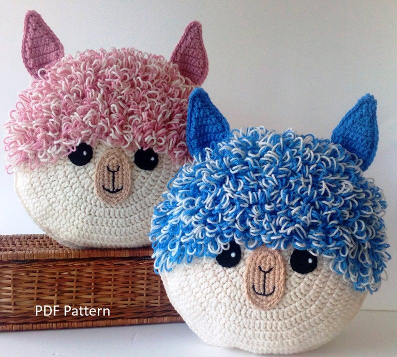 Crochet Alpaca and Llama Pillows ... So Fun!