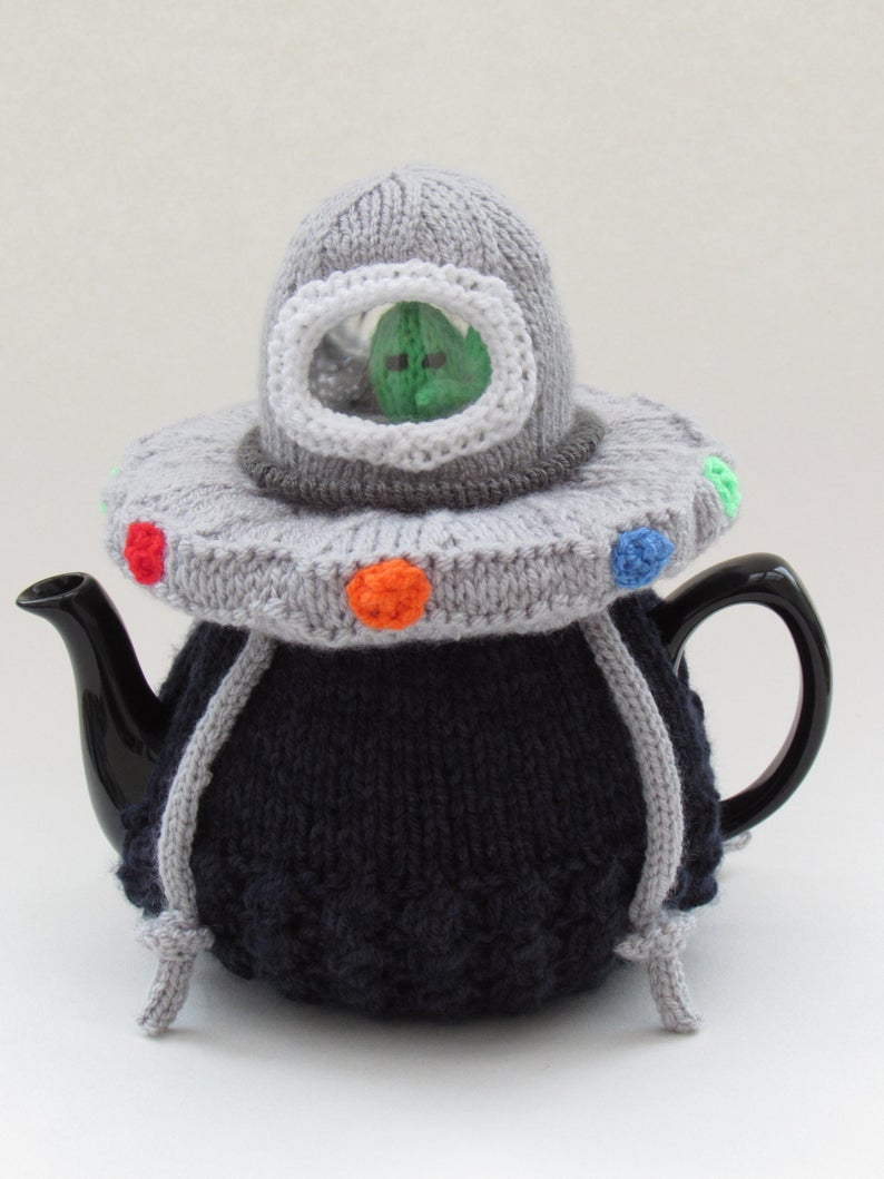 Designer Spotlight: Unusual Tea Cosy Patterns For Knitters, Designed By Susan Cowper of Tea Cosy Folk