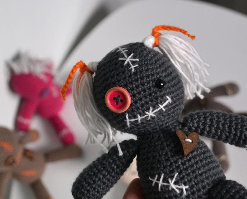 Crochet a Cute Voodoo Doll Amigurumi … Just In Time For Halloween!