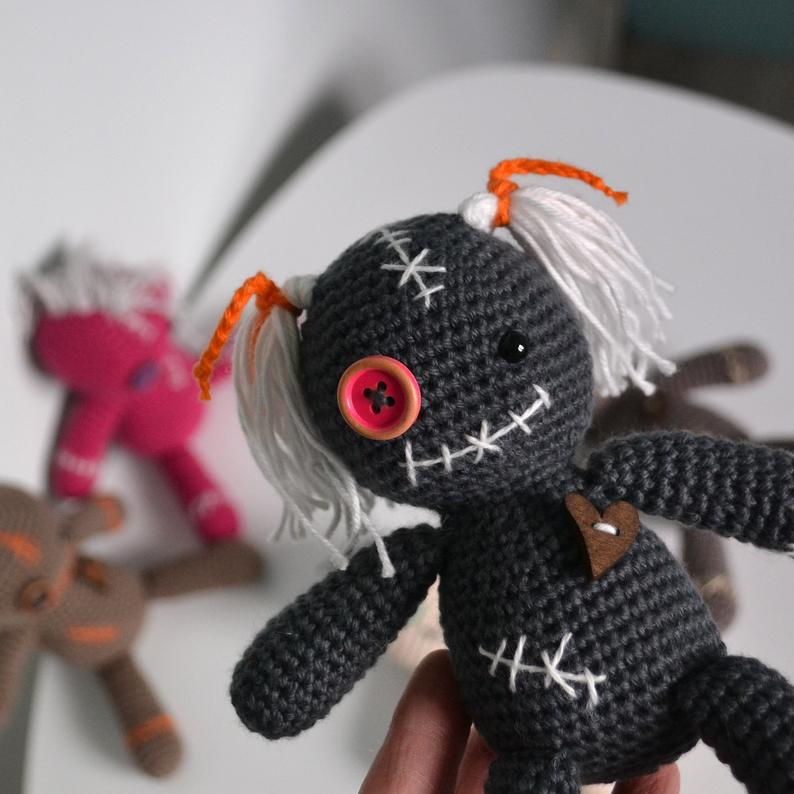 Crochet a Cute Voodoo Doll Amigurumi ... Just In Time For Halloween!