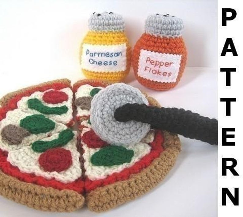 Get the pizza pattern! #crochet