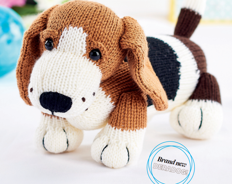 Knit a Herbie The Basset Hound, Get the Free Pattern!