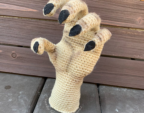 Crochet a Haunted Hand For Halloween … It's Super Creepy and Awesome!