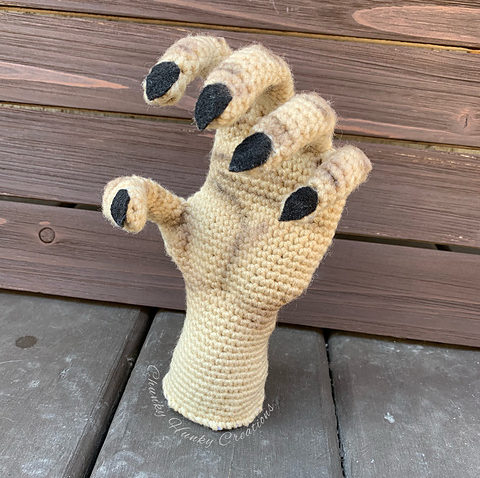 Crochet a Haunted Hand For Halloween ... It's Super Creepy and Awesome!
