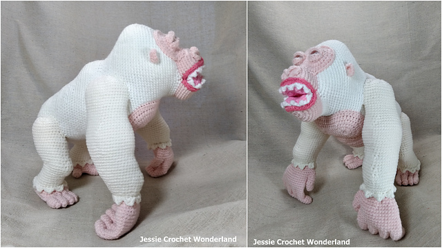 Crochet a Sixteen Inch King Kong! They Say It's Some Big Gorilla!