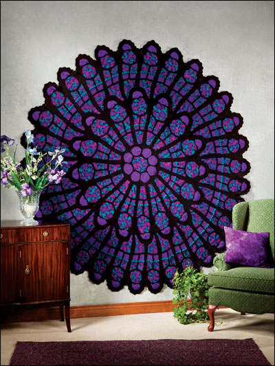 Crochet a Classic Cathedral Rose Afghan, Pattern By Julene Watson For Annie's Attic