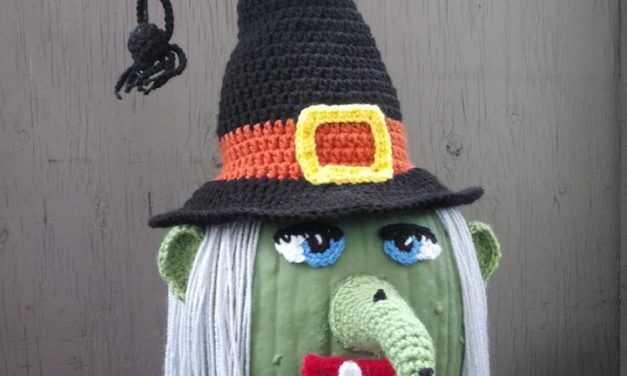 Great Idea Alert! Turn Your Pumpkin Into A Witch Using Yarn & Crochet Magic!