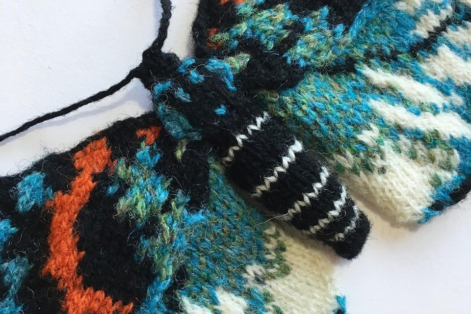Nifty Knitted Moth From Max Alexander, It's An Erasmia Pulchella