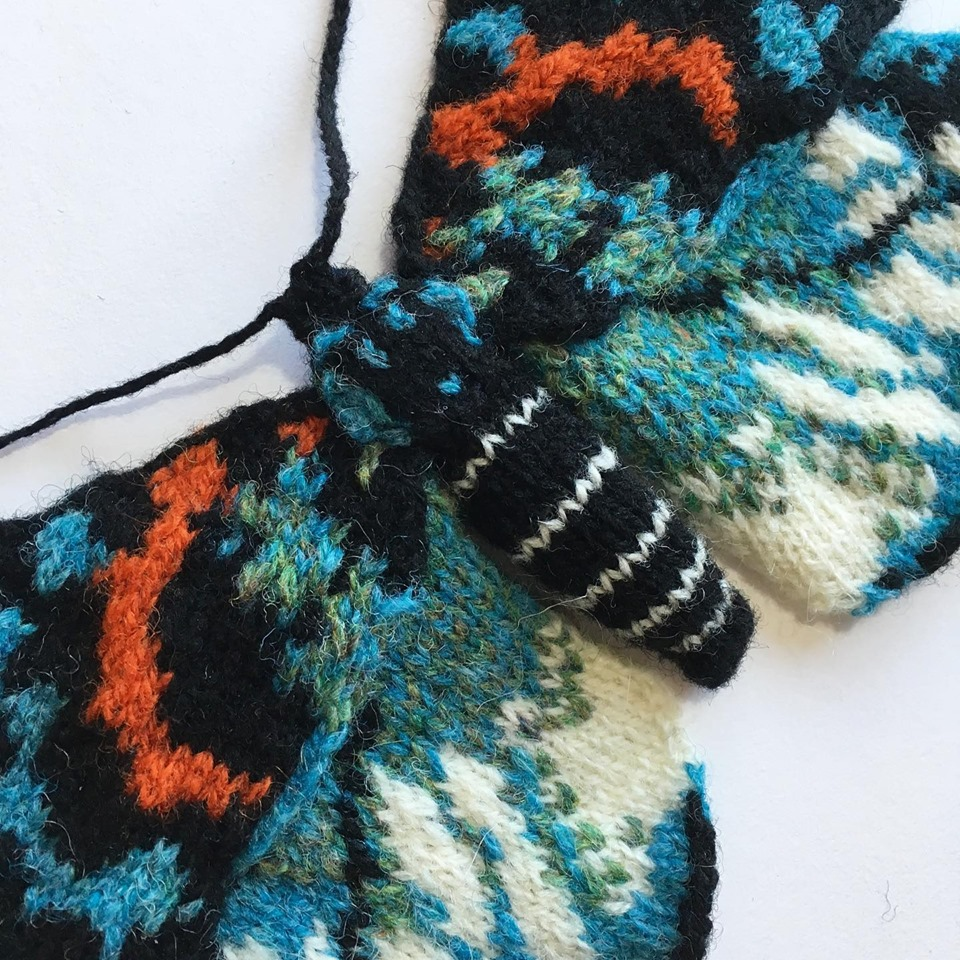 New Knitted Moth From Max Alexander, It's An Erasmia Pulchella