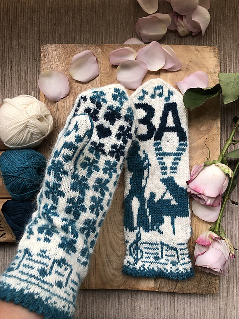 Knit a Pair of ABBA-Inspired Mittens, Designed By Lotta Lundin