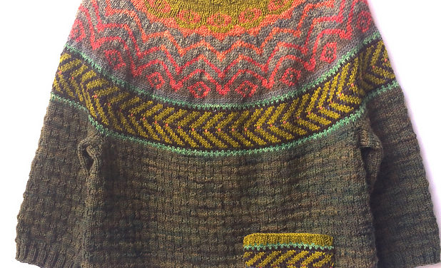 Knit a Fun & Folksy Chaparral Sweater Designed By Heidi Reszies of Folk City Studio