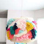 Genius DIY & Stashbuster Alert: Faux Woven Yarn Pendant Light Fixture
