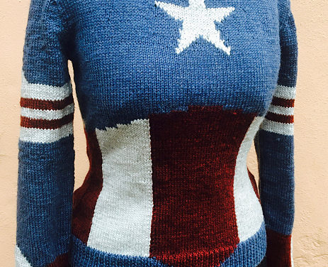 Knit a Stylish Captain America Sweater, Thanks To One Superhero!